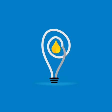 fuel oil inside of creative bulb vector illustration Vector