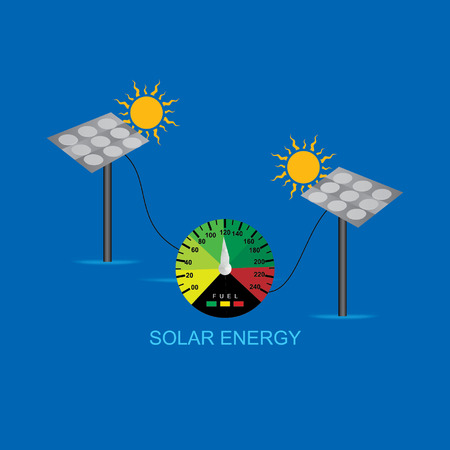 sun energy: solar energy concept sun with speed meter