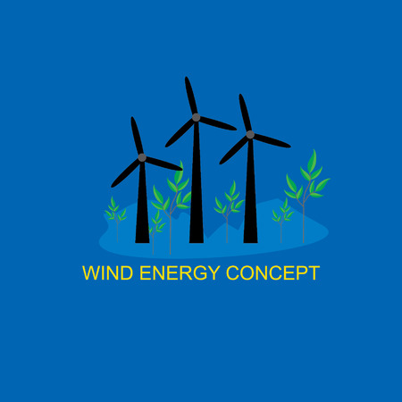 turbines: wind turbines landscape energy concept