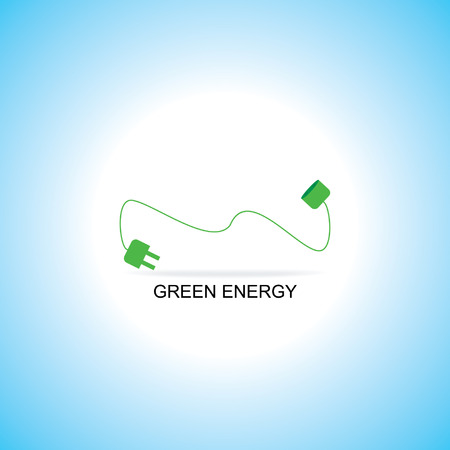 green energy concept vector illustration Vector