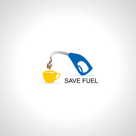 fuel nozzle with tea cup vector Vector