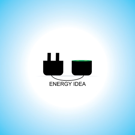electric pin concept idea vector Vector