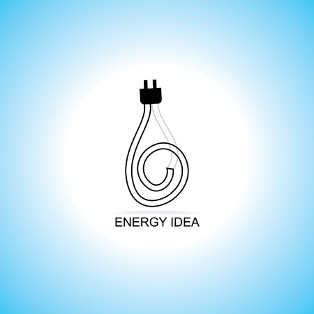 energy idea concept with electric pin