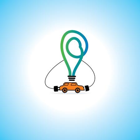mpg: car charging concept vector idea