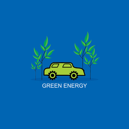 bio fuel: green car with bio fuel concept