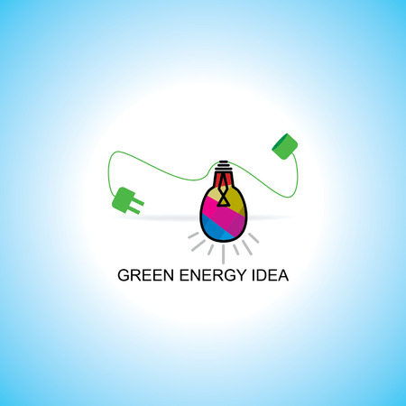 bio fuel idea concept with bulb idea Vector