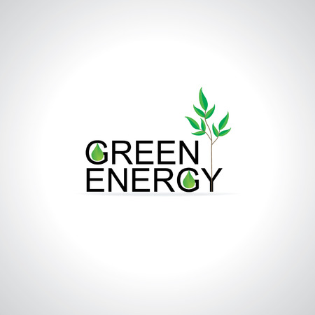 green tree: green energy concept with green tree idea
