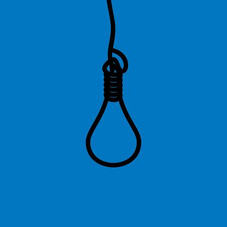 ahorcado: pena de muerte concepto de ilustraci�n vectorial idea