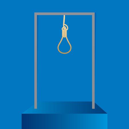 ahorcado: pena de muerte concepto de ilustración vectorial idea