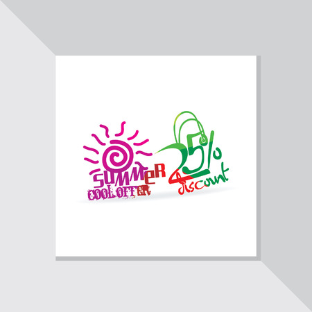 fl: colorful summer offer vector with discount