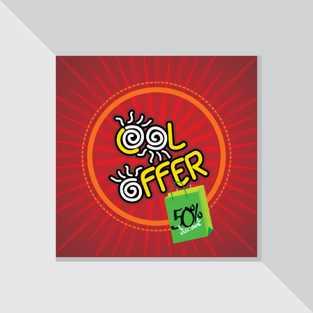 fl: cool offer with discount vector