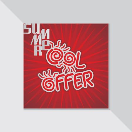 fl: summer cool offer concept vector Illustration