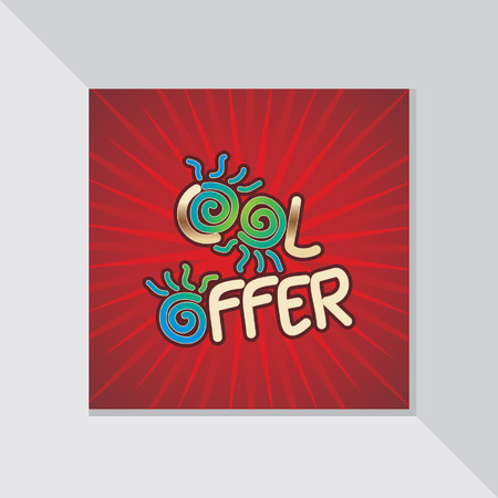 fl: summer cool offer concept
