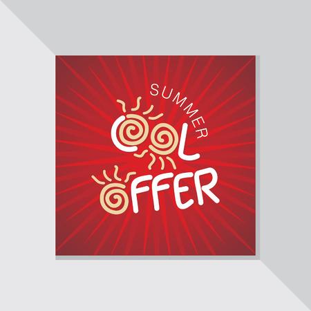 fl: summer cool offer background vector Illustration