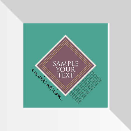 invitation card: invitation card layout vector