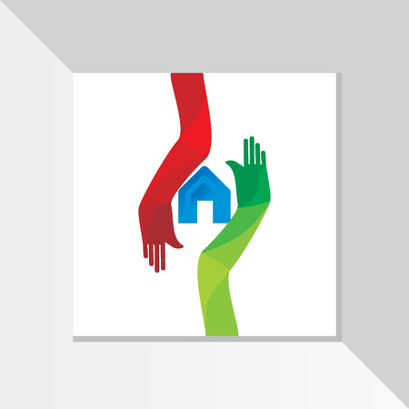 home care: home care with colorful hand