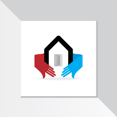 home care: home care with hands vector