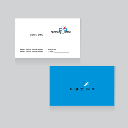business card: company business card concept vector