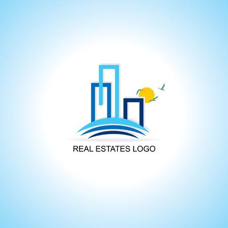 logotipo de construccion: inmuebles logo concepto