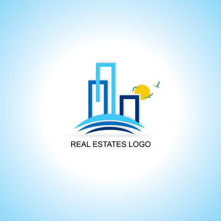 tower house: real estates logo concept