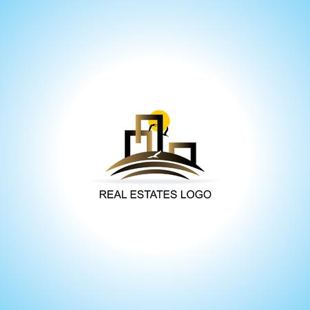 logo batiment: biens immobiliers logo notion