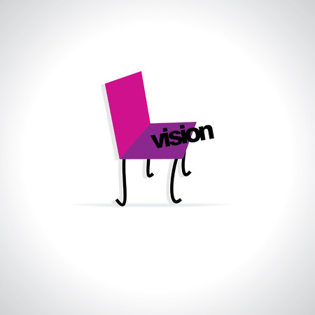 dedication: creative chair with vision concept Illustration