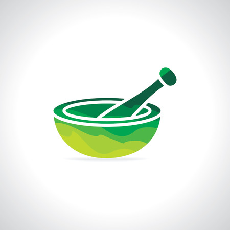pharmacy symbol: abstract mortar and pestle