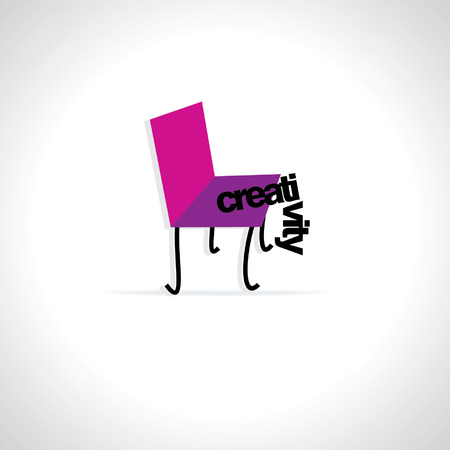 dedicate: creative chair with creativity concept