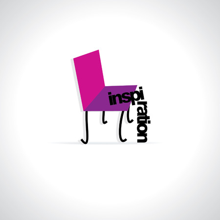 dedicate: creative chair with inspiration concept Illustration