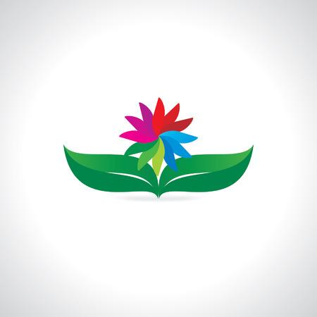 leaf background: creative leaf background vector illustration