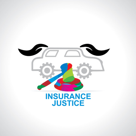 judgement day: car caring with hand justice concept
