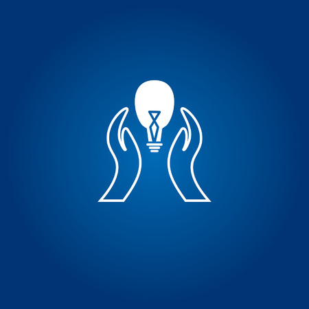 dedicate: caring concept with bulb idea