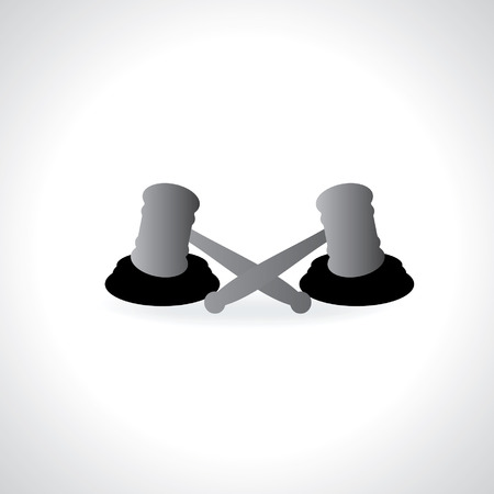 judgement day: gavel isolated vector illustration Illustration
