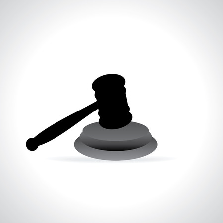 judgement day: gavel vector illustration isolated