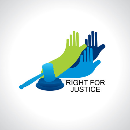 atrocity: hands right for justice Illustration