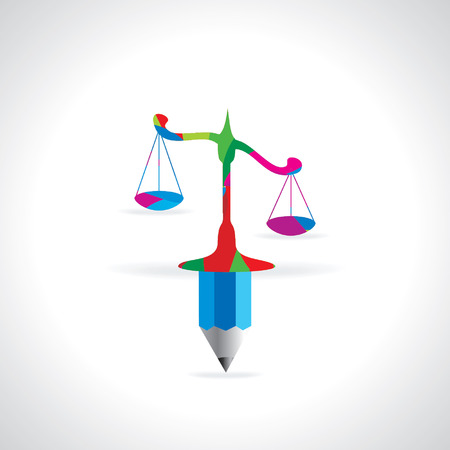 judgement day: scale with connect pencil vector