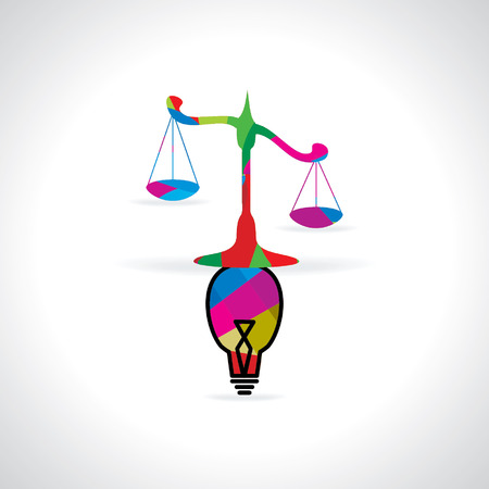 prosecute: scale connect with bulb Illustration