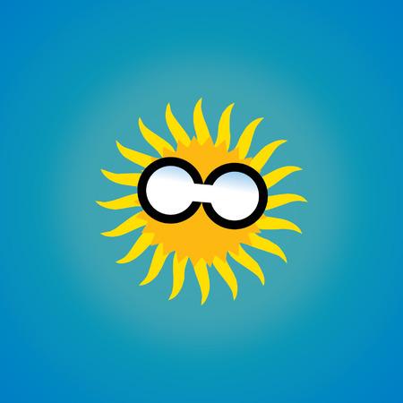 sun glass: dom vidrio concepto de vacaciones de verano