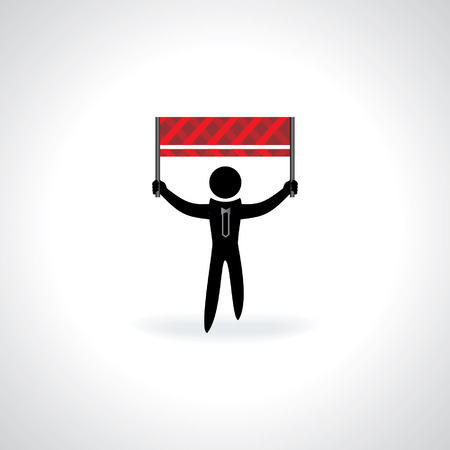 peoples: peoples holding barrier vector Illustration