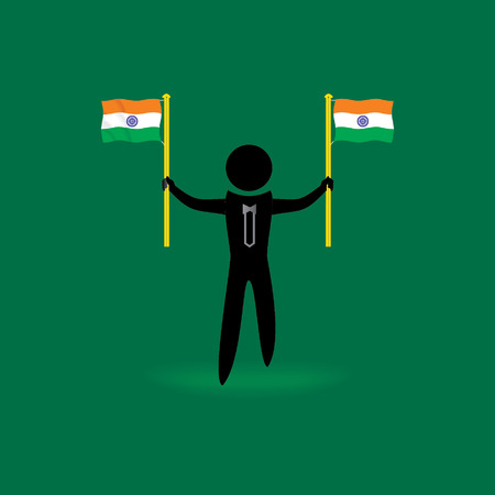 gallant: people holding Indian flag Illustration