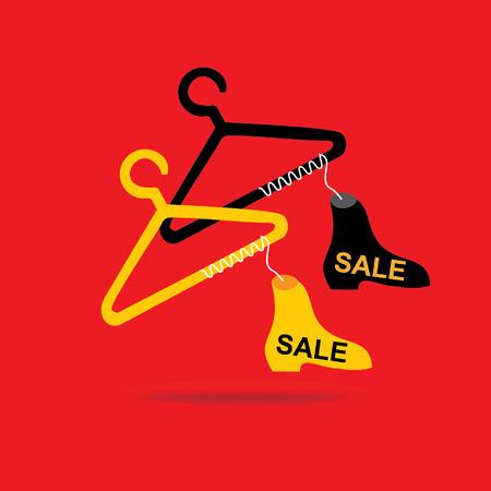 shoe sale: zapato concepto de la venta con la suspensi�n