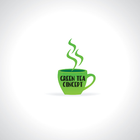eco notice: green tea concept with cup
