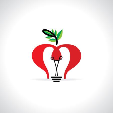 filament: creative bulb idea with leaf