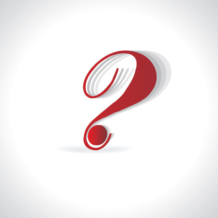 questioner: creative question mark vector Illustration