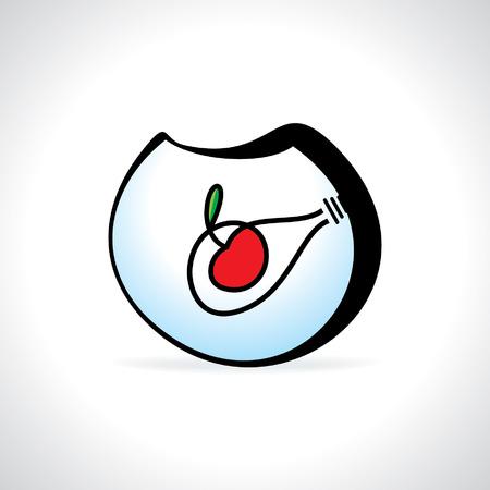 aquarium idea bulb with cherry Illustration