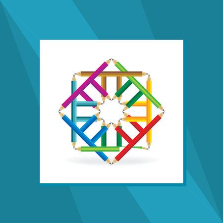 rainbow background: education concept Illustration