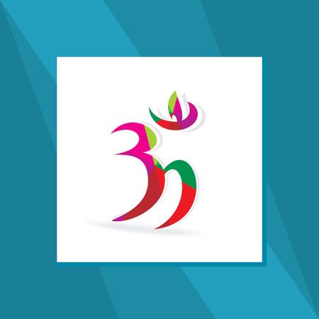 heart chakra: om symbol