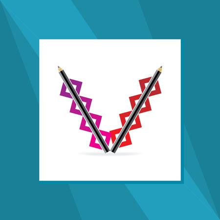 v alphabet: V alphabet created with pencil