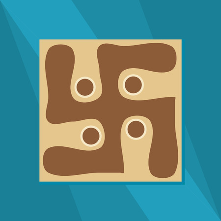 gaspard: swastika symbol vector