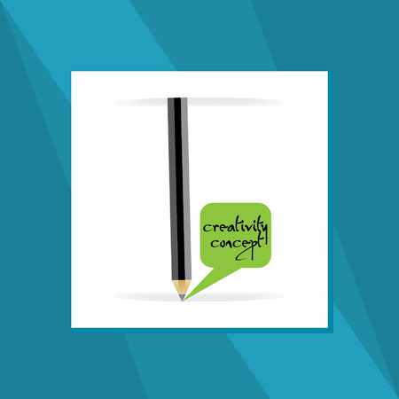 creativity concept: creativity concept with pencil Illustration